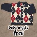 Baby Argyle Cardigan, FREE