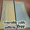 Reversible Celtic Patterns Baby Blanket, FREE