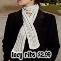 Lacy Ribs Scarf, $2.99