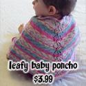 Leafy Baby Poncho, $3.99